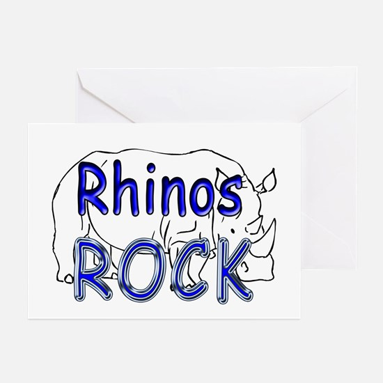 Rhinos Rock Greeting Cards (Pk of 10)