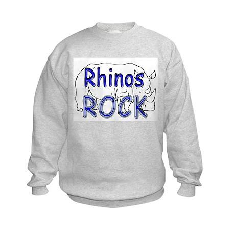Rhinos Rock Kids Sweatshirt