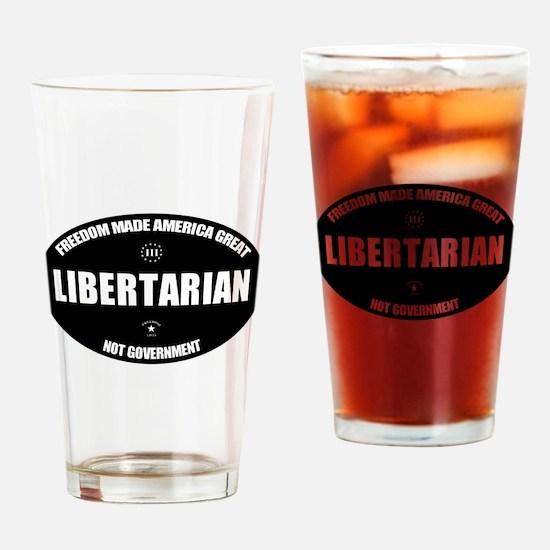 Libertarian BWL Oval Drinking Glass