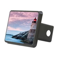 Castle on hill lighthouse Hitch Cover