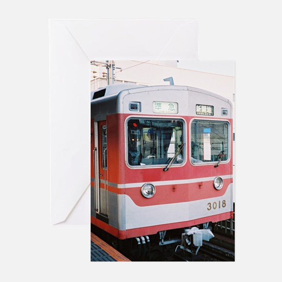 Trains in Japan Greeting Cards (Pk of 10)