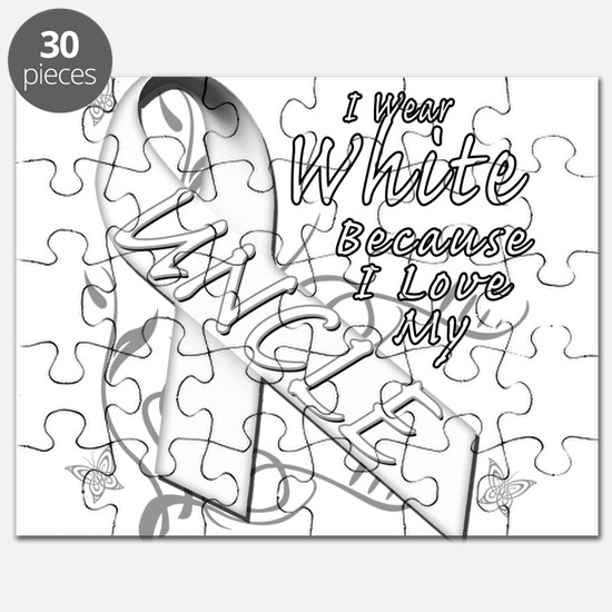 I Wear White Because I Love My Uncle Puzzle