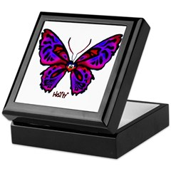 Haitian Butterfly Keepsake Box