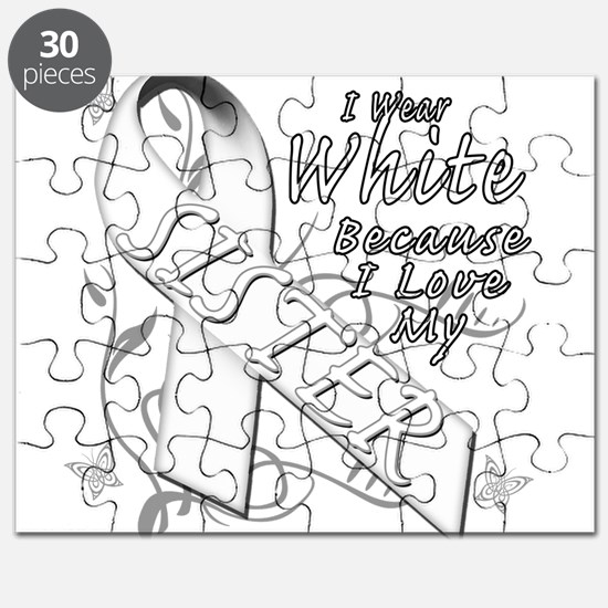 I Wear White Because I Love My Sister Puzzle