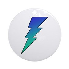 The Lightning Bolt 1 Shop Ornament (Round)