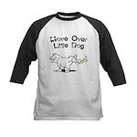 Move Over Little Dog Kids Baseball Jersey