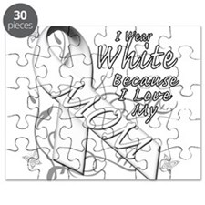 I Wear White Because I Love My Mom Puzzle