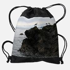 Cute Gaviota Drawstring Bag