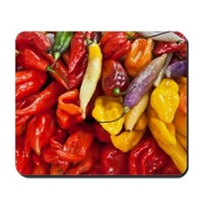 Peppers in a market in Lima, Peru Mousepad