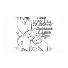 I Wear White Because I Love My Dad Wall Decal