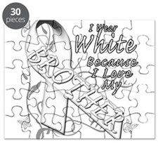 I Wear White Because I Love My Brother Puzzle