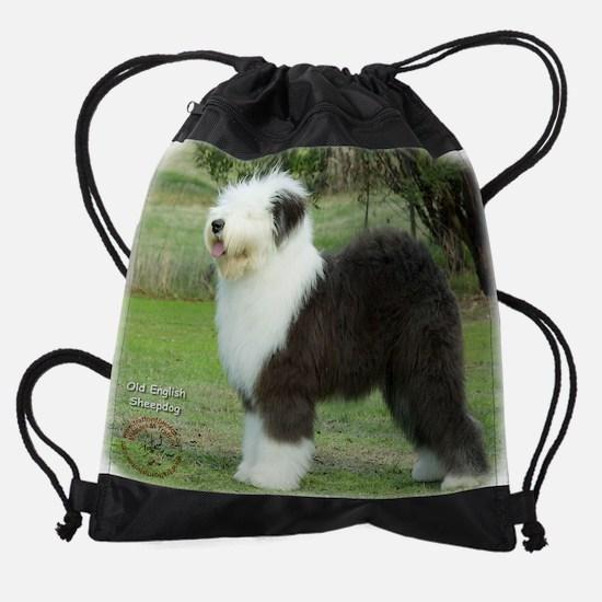 Old English Sheepdog 9F055D-17.JPG Drawstring Bag