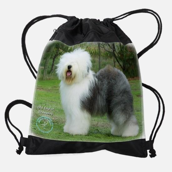 Old English Sheepdog 9F054D-17.JPG Drawstring Bag