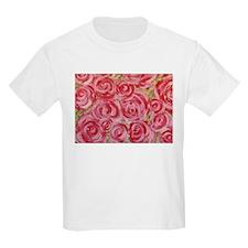 Shabby Chic Roses Kids T-Shirt