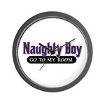 Naughty Boy [Red] Wall Clock