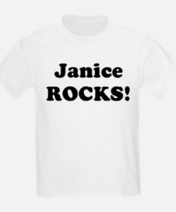 Janice Rocks! Kids T-Shirt
