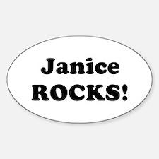 Janice Rocks! Oval Decal