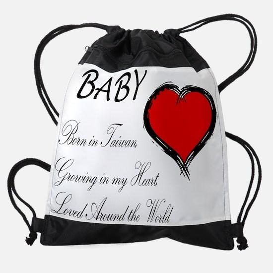Born in Taiwan Growing in Heart.jpg Drawstring Bag