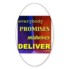 Everybody promises midwives deliver Oval Decal