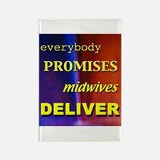 Everybody promises midwives deliver Rectangle Magn