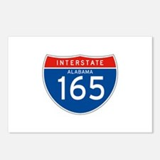 Interstate 165 - AL Postcards (Package of 8)