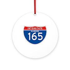 Interstate 165 - AL Ornament (Round)