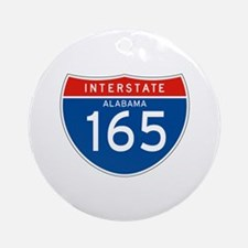 Interstate 165 - AL Ornament (Round)