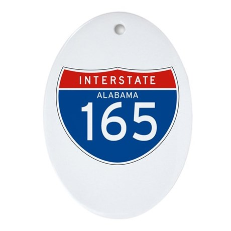Interstate 165 - AL Oval Ornament