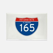 Interstate 165 - AL Rectangle Magnet