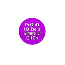 Cute Butch dyke feminist Mini Button