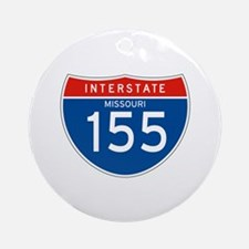 Interstate 155 - MO Ornament (Round)