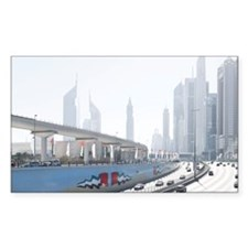 Sheikh Zayed road on national  Decal