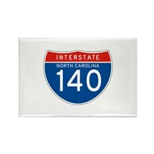 Interstate 140 - NC Rectangle Magnet (10 pack)