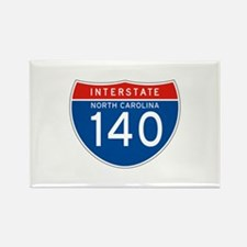 Interstate 140 - NC Rectangle Magnet