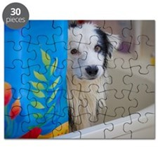 Dog in bath tub Puzzle