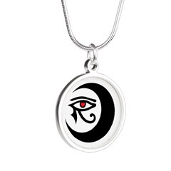 LunaSees Heart Logo Silver Round Necklace