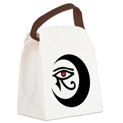 LunaSees Heart Logo Canvas Lunch Bag