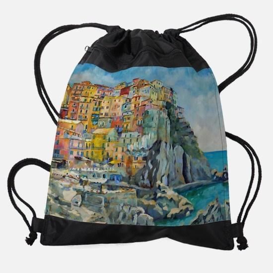 Cinque Terre by Chris Brandley Drawstring Bag