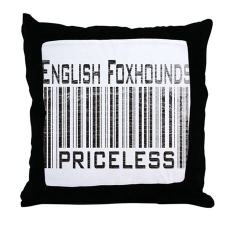 English Foxhound Dog Owner Lover Throw Pillow