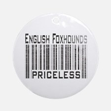 English Foxhound Dog Owner Lover Ornament (Round)