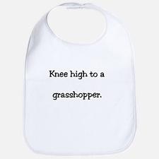 Knee high grasshopper Bib