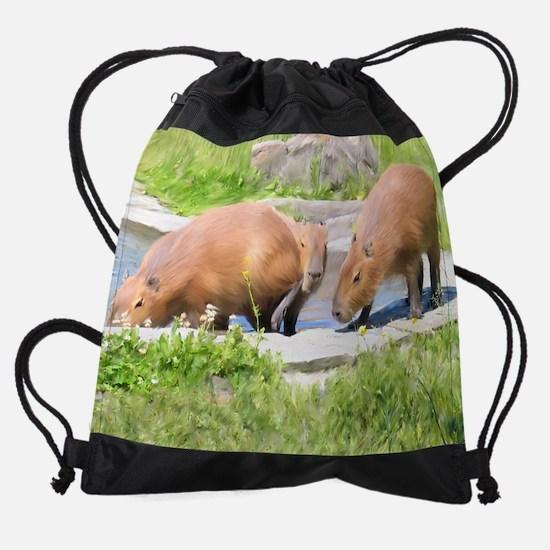 Capy Calendar Drawstring Bag