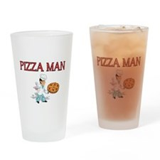 pizza man Drinking Glass