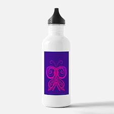 Purple Butterfly (2) Water Bottle
