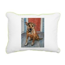 Lucky and Blizzard Rectangular Canvas Pillow