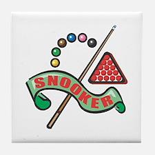 Snooker Pool Design Tile Coaster