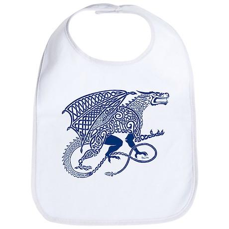Celtic Knotwork Dragon, Blue Bib