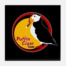 Puffin Cigar Club Tile Coaster