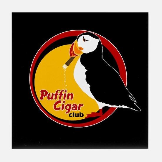 Puffin Cigar Club Tile Coaster