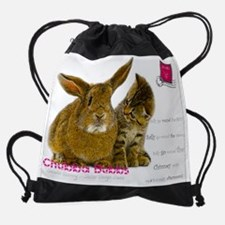 Cute Bunny picture Drawstring Bag